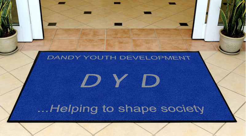 DANDY YOUTH DEVELOPMENT 3 X 5 Rubber Backed Carpeted HD - The Personalized Doormats Company