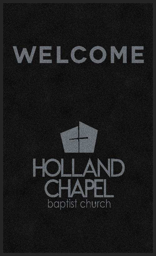 Holland Chapel Baptist Church 3 X 5 Rubber Backed Carpeted HD - The Personalized Doormats Company