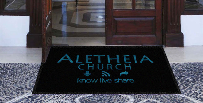 Aletheia Church 3 X 5 Waterhog Impressions - The Personalized Doormats Company