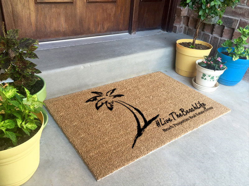 Beach Properties - client logomat 2 X 3 Flocked Classic Coir (PDC) - The Personalized Doormats Company