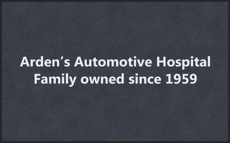 Arden's Automotive Hospital 5 X 8 Rubber Backed Carpeted HD - The Personalized Doormats Company