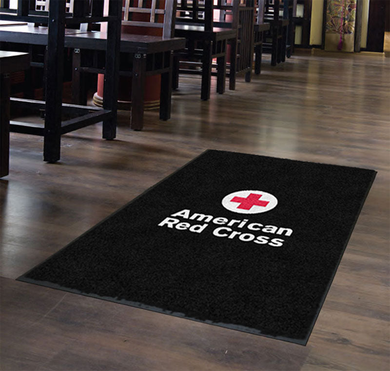 American Red Cross 4 X 6 Flocked Olefin 2 Color - The Personalized Doormats Company