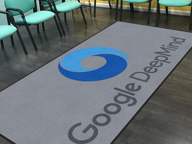 DeepMind floor mat 5 X 10 Rubber Backed Carpeted HD - The Personalized Doormats Company