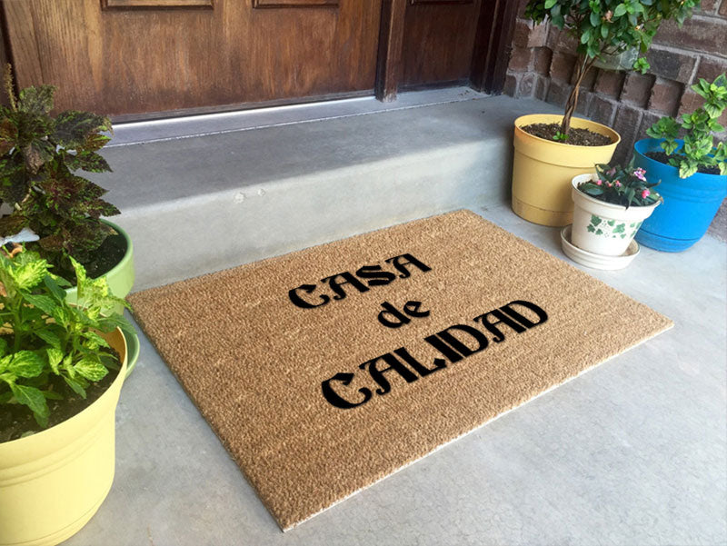 Casa de Calidad 2 X 3 Flocked Classic Coir (PDC) - The Personalized Doormats Company
