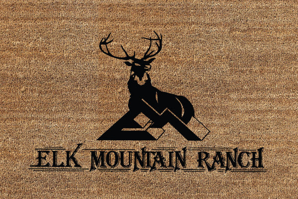Elk Mountain 2 x 3 Flocked Classic Coir (PDC) - The Personalized Doormats Company