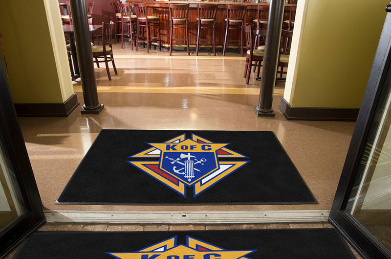 K of C 4 X 6 Rubber Backed Carpeted HD - The Personalized Doormats Company