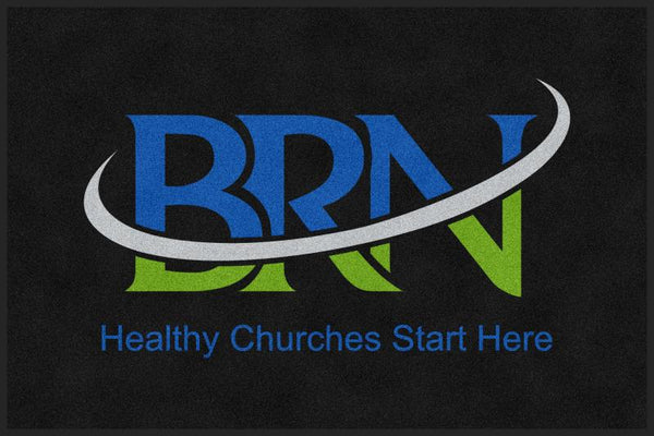 Baptist Resource Network 4 X 6 Rubber Backed Carpeted HD - The Personalized Doormats Company