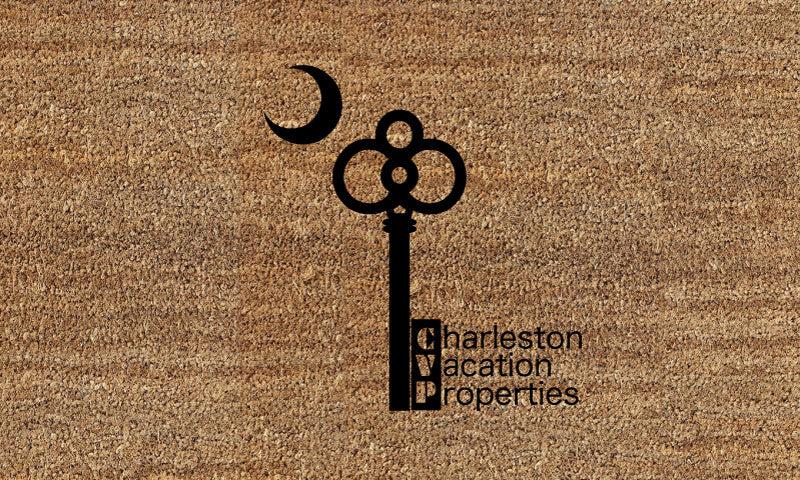 Charleston Vacation Properties Doormat 18 X 30 Flocked Classic Coir (PDC) - The Personalized Doormats Company