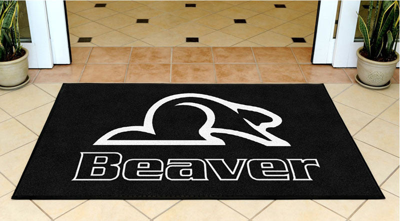 Beaver Coach Sales & Service 3 X 5 Rubber Backed Carpeted HD - The Personalized Doormats Company