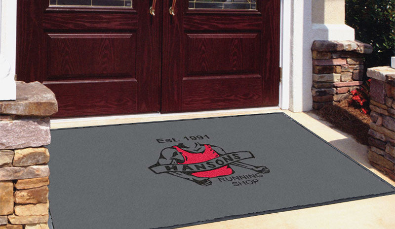 Hansons Running Shop 4 x 6 Flocked Olefin 2 Color - The Personalized Doormats Company