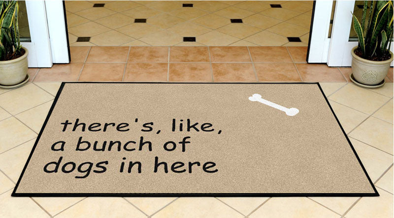 Becker's 3 X 5 Rubber Backed Carpeted HD - The Personalized Doormats Company