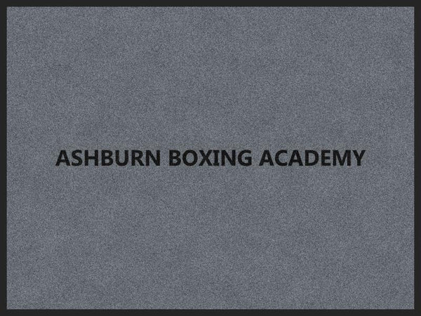 ASHBURN BOXING ACADEMY 3 x 4 Rubber Backed Carpeted HD - The Personalized Doormats Company