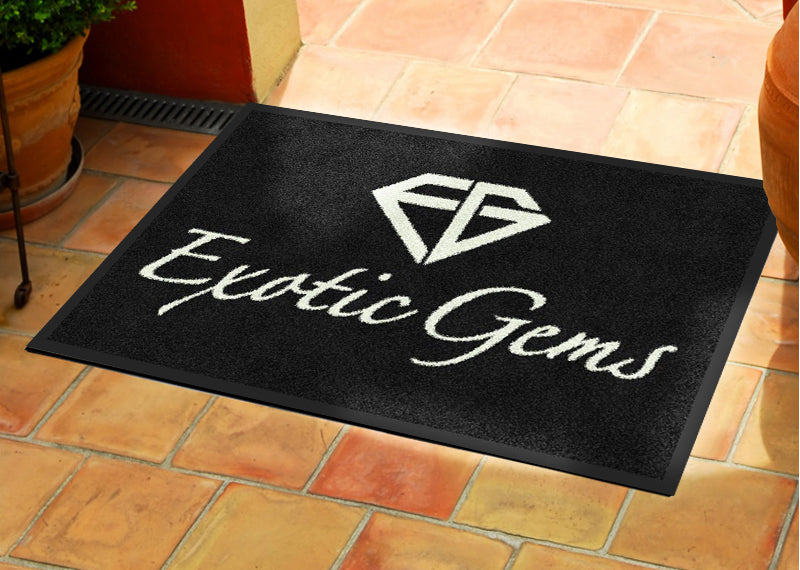 Exotic Gems 2 x 3 Rubber Backed Carpeted - The Personalized Doormats Company