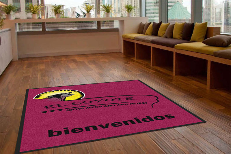 el coyote restaurant 5 X 8 Rubber Backed Carpeted - The Personalized Doormats Company