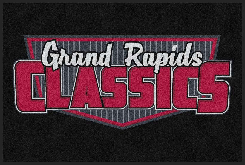 Grand Rapids classics 4 X 6 Rubber Backed Carpeted HD - The Personalized Doormats Company