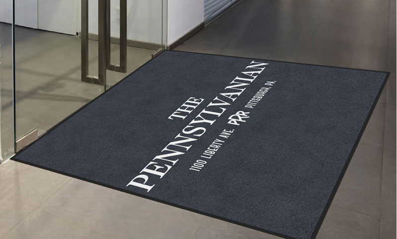 GREYSTAR 6 X 6 Rubber Backed Carpeted HD - The Personalized Doormats Company