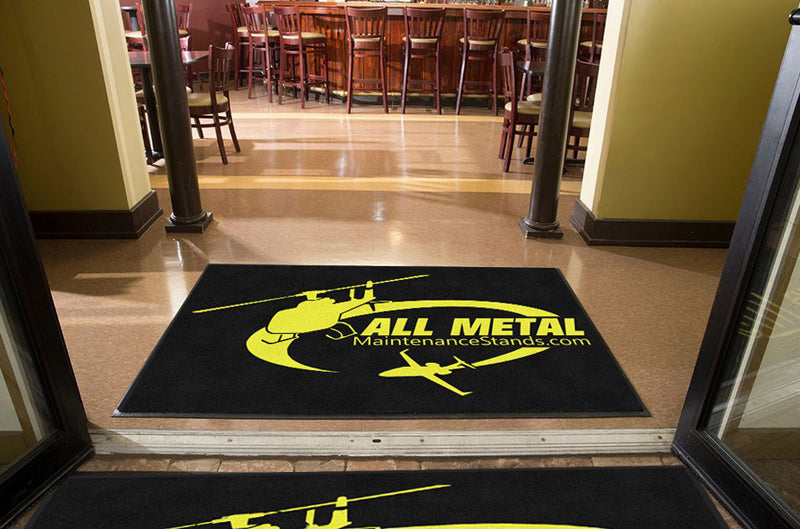 All Metal MS 4 X 6 Rubber Backed Carpeted HD - The Personalized Doormats Company