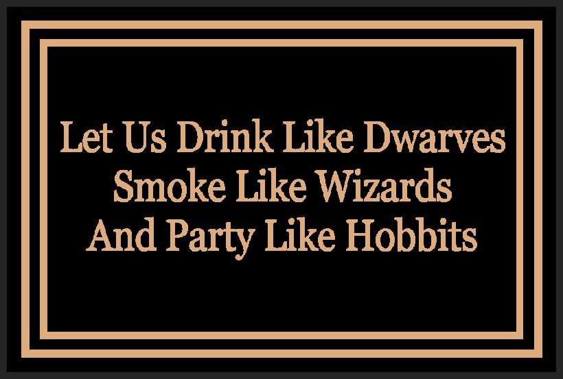 Drink Like Dwarves 2 X 3 Rubber Backed Carpeted HD - The Personalized Doormats Company