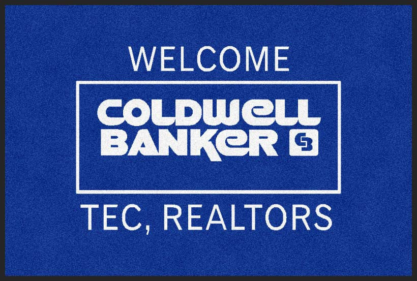 Coldwell Banker TEC, Realtors 2 X 3 Rubber Backed Carpeted HD - The Personalized Doormats Company