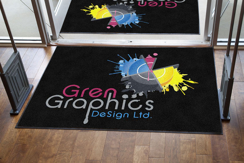 GrenGraphics DeSigns Ltd. 4 X 6 Rubber Backed Carpeted HD - The Personalized Doormats Company