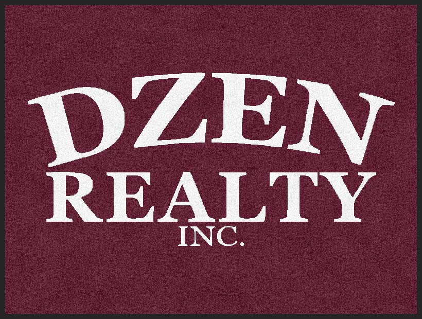 Dzen Realty 3 X 4 Rubber Backed Carpeted HD - The Personalized Doormats Company