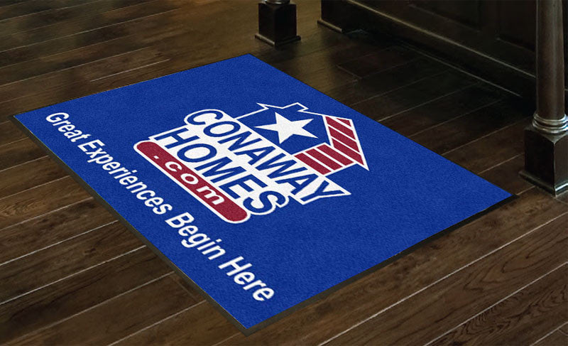 CONAWAY HOMES 3 X 4 Rubber Backed Carpeted HD - The Personalized Doormats Company