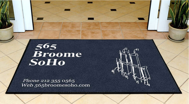 Bizzi and Partners Development 3 X 5 Rubber Backed Carpeted HD - The Personalized Doormats Company