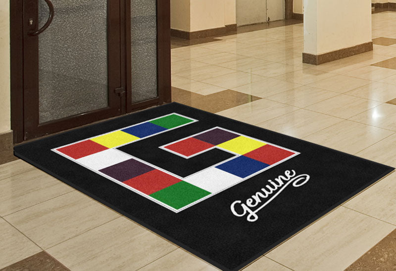 Genuine Inc 4 X 6 Rubber Backed Carpeted HD - The Personalized Doormats Company