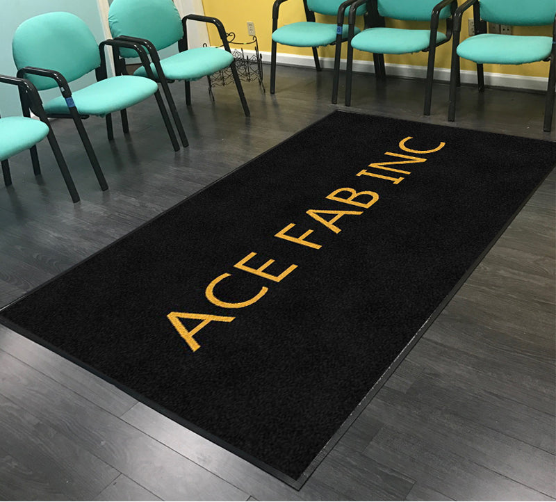 ACE FABRICATORS, INC. 5 x 8 Rubber Backed Carpeted HD - The Personalized Doormats Company