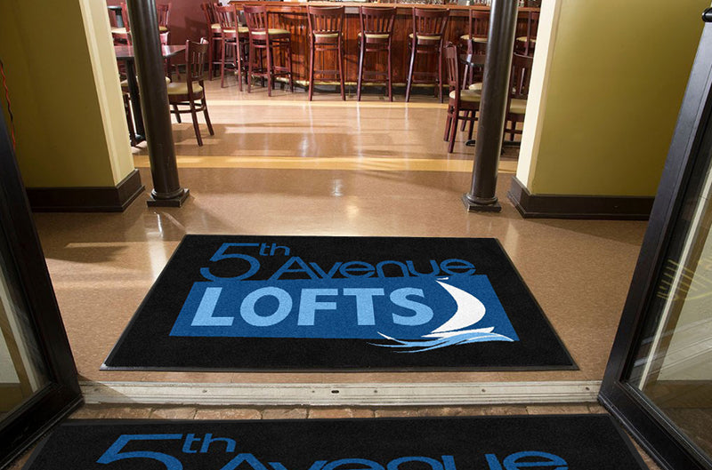 5th Avenue Lofts 4 X 6 Rubber Backed Carpeted HD - The Personalized Doormats Company