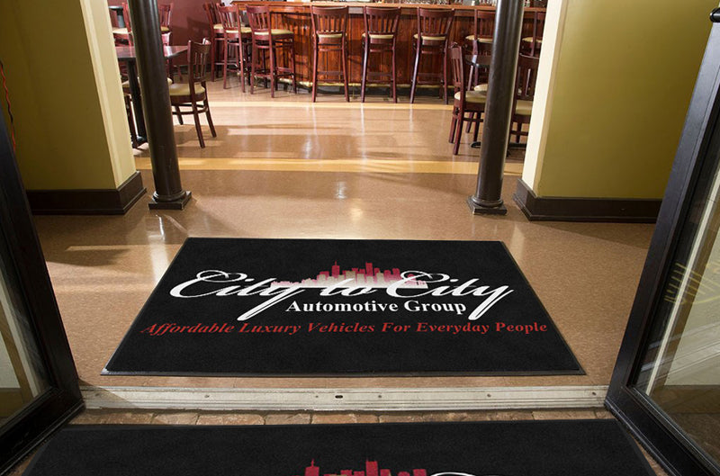 City to City Automotive Group 4 X 6 Rubber Backed Carpeted HD - The Personalized Doormats Company