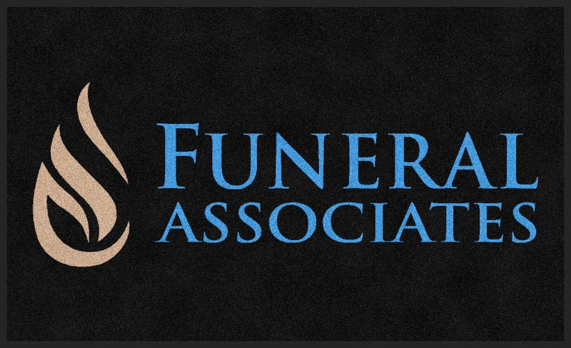 Funeral Associates 3 x 5 Rubber Backed Carpeted HD - The Personalized Doormats Company