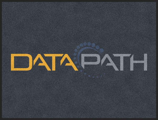 Data Path 3 x 4 Rubber Backed Carpeted HD - The Personalized Doormats Company