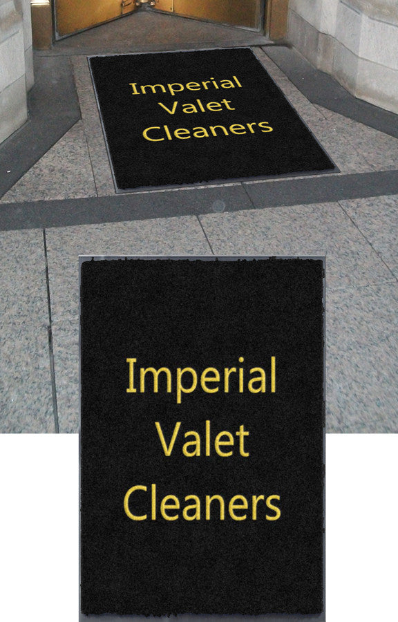 Imperial Valet Cleaners 3 x 4 Flocked Olefin 2 Color - The Personalized Doormats Company