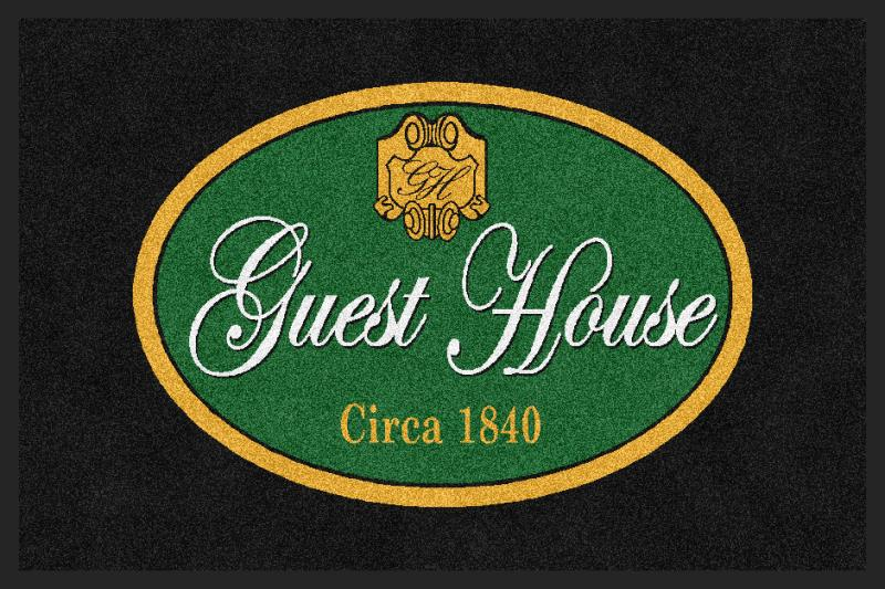 Guest House 2 X 3 Rubber Backed Carpeted HD - The Personalized Doormats Company