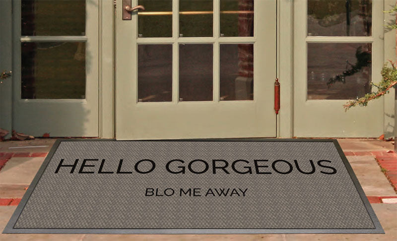 Blo me away 2.33 X 5.42 Luxury Berber Inlay - The Personalized Doormats Company