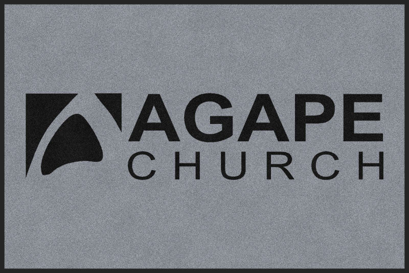 Agape Church door mat 4 X 6 Rubber Backed Carpeted HD - The Personalized Doormats Company