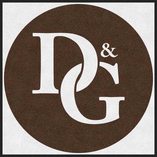 D&G Dental 2 4 X 4 Rubber Backed Carpeted HD Round - The Personalized Doormats Company