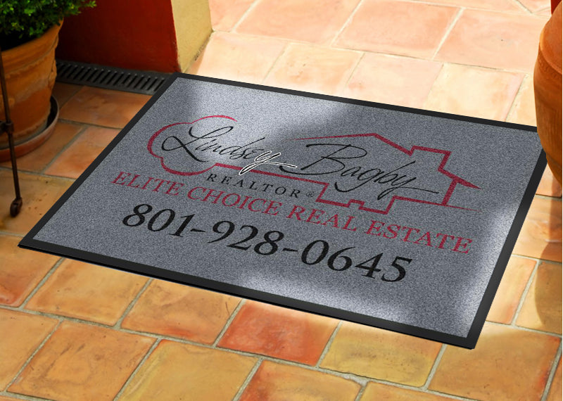 Bagby Real Estate 2 X 3 Rubber Backed Carpeted HD - The Personalized Doormats Company