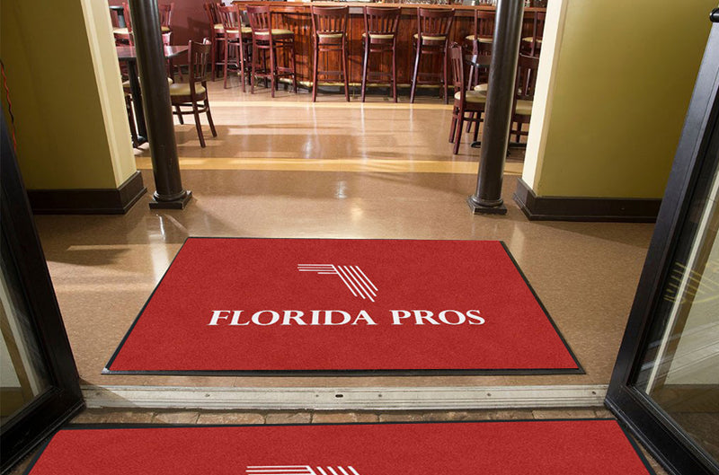 FL Pros Door Mat 4 X 6 Rubber Backed Carpeted HD - The Personalized Doormats Company
