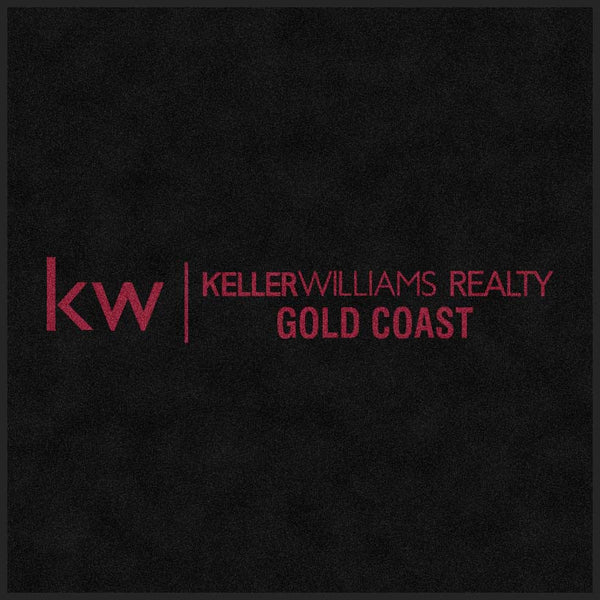 Keller Williams Realty Gold Coast 4.5 X 4.5 Rubber Backed Carpeted HD - The Personalized Doormats Company