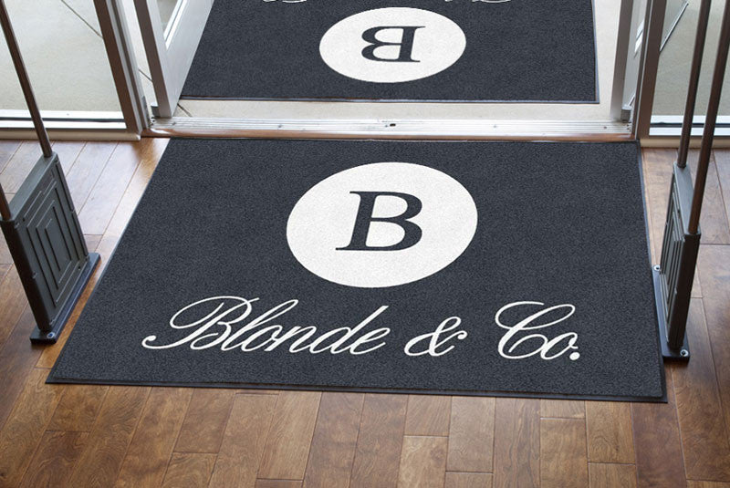 blonde & co 4 X 6 Rubber Backed Carpeted HD - The Personalized Doormats Company