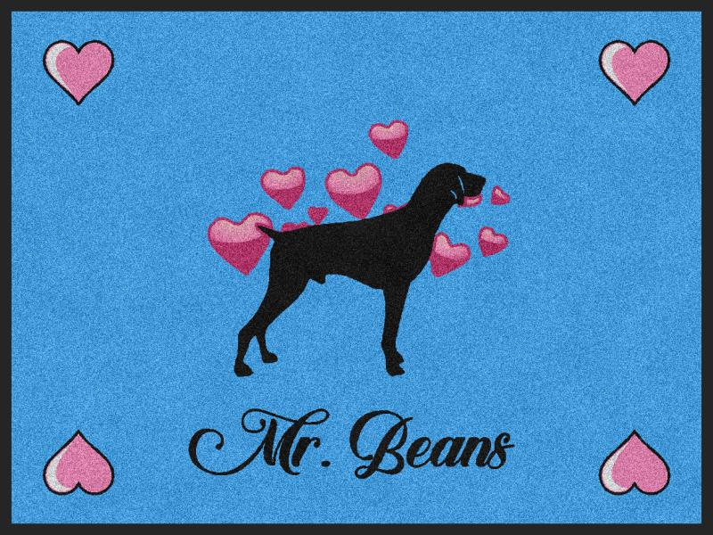 beans 3 x 4 Rubber Backed Carpeted HD - The Personalized Doormats Company