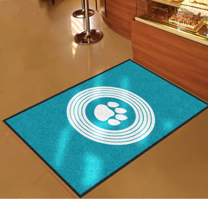 Disco Paws Entrance Mat 3 X 5 Rubber Backed Carpeted HD - The Personalized Doormats Company