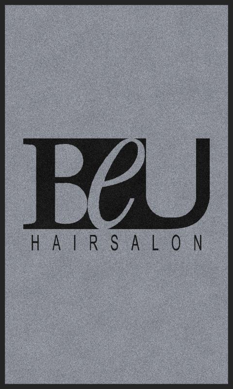BEU Hair Salon 3 x 5 Rubber Backed Carpeted - The Personalized Doormats Company