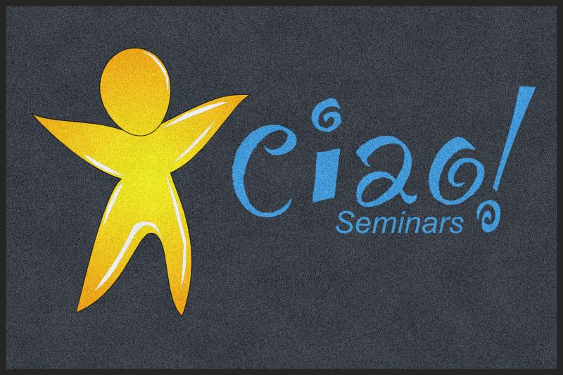 CIAO Seminars 4 X 6 Rubber Backed Carpeted HD - The Personalized Doormats Company