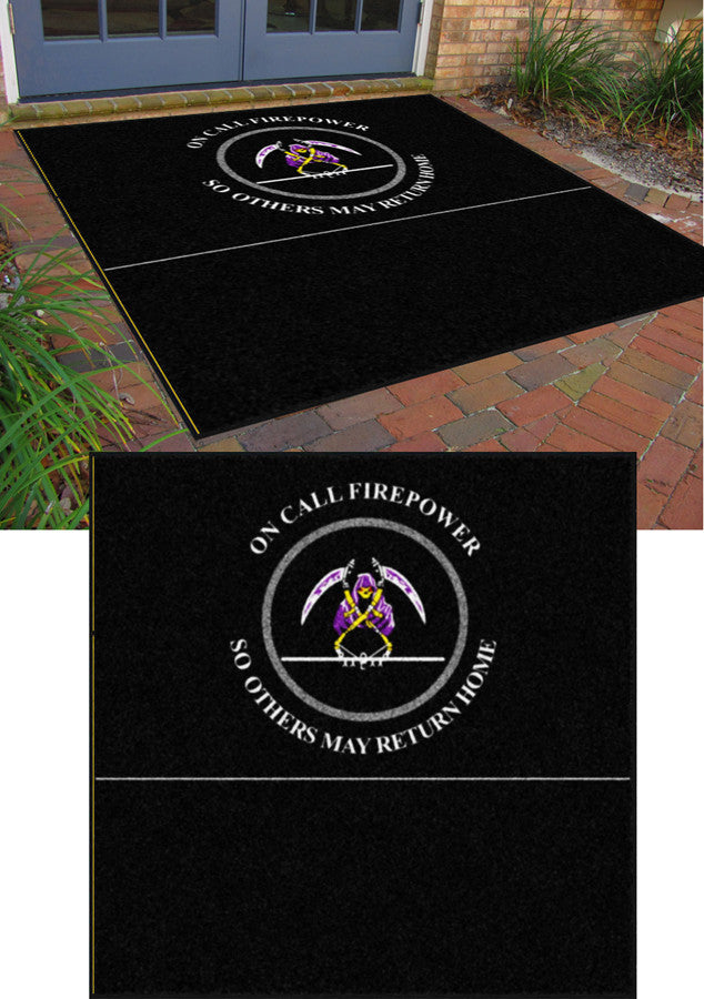 FIREPOWER 10 X 10 Rubber Backed Carpeted (XL 65mil) - The Personalized Doormats Company