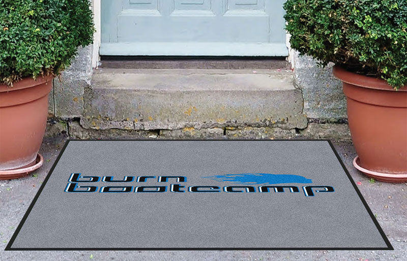 Burn Boot Camp 3 x 4 Rubber Backed Carpeted HD - The Personalized Doormats Company