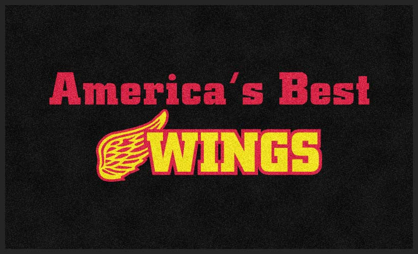 America's Best Wings 3 x 5 Flocked Olefin 2 Color - The Personalized Doormats Company