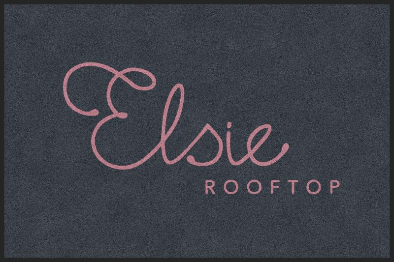 Elsie Rooftop 4 x 6 Rubber Backed Carpeted HD - The Personalized Doormats Company